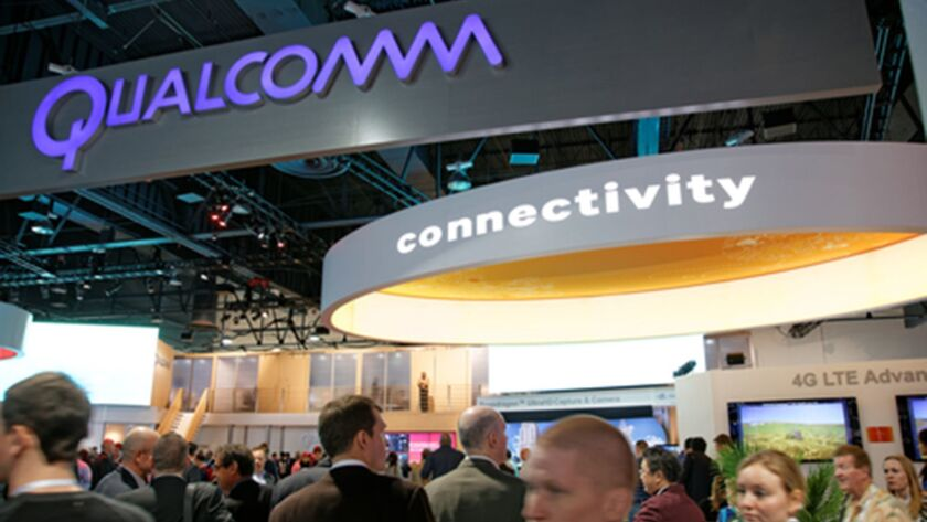 Qualcomm Convention Booth CES 2014 (Dreamstime/TNS) ** OUTS - ELSENT, FPG, TCN - OUTS **
