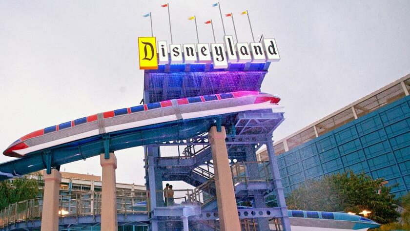 The Disneyland Hotel in Anaheim.