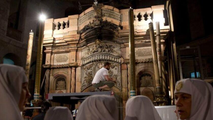 La última restauración de la iglesia del Santo Sepulcro fue en 1810 después de un incendio.