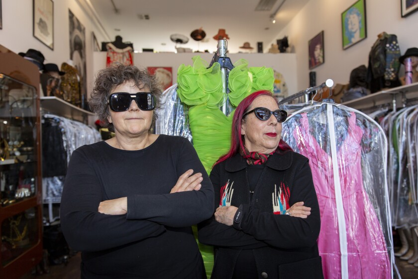 Catwalk owners Michelle Webb, left, and Renee Johnston have built their tiny Fairfax Avenue shop into a must-see destination for many of fashion's top designers and celebrities like Lady Gaga.