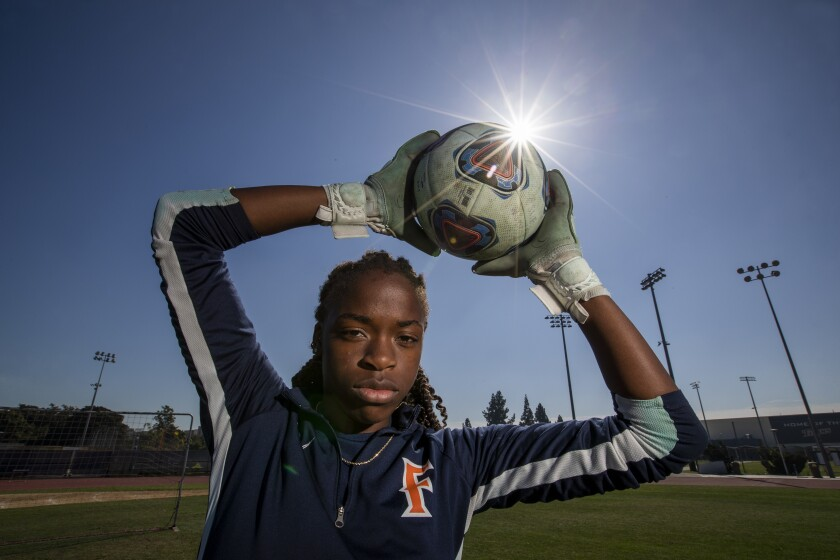 Cal State Fullerton goalkeeper DeAira Jackson knows she still has a lot to learn when it comes to the sport of rugby.