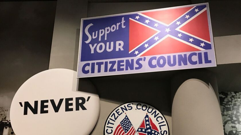 Exhibits on display at the Mississippi Museum of Civil Rights. Four years after it broke ground and