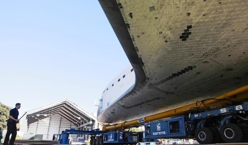 After glitches and delays, Endeavour finally reaches its new home