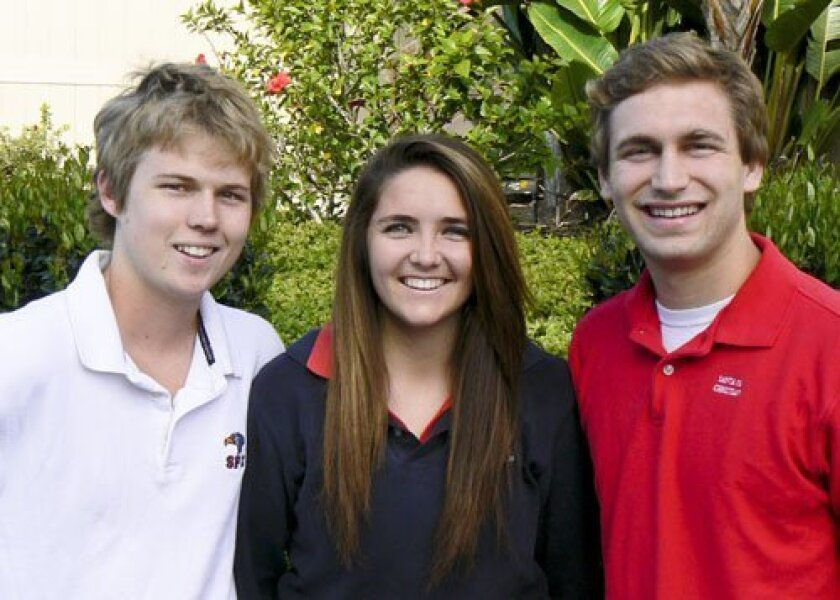 (Left to Right) Micah Lyle, Kelly Hoffman and Kade Shoemaker