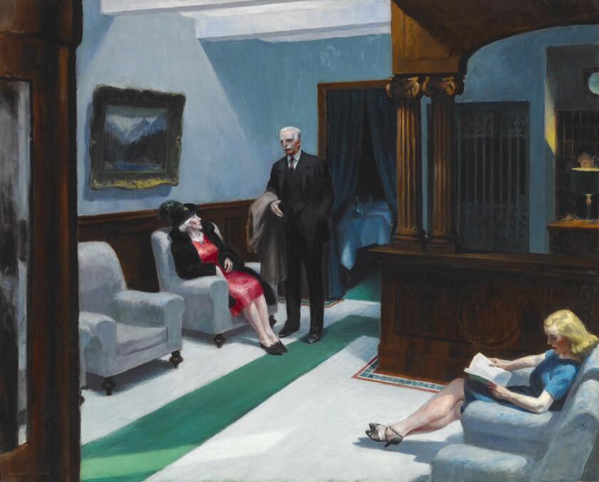 """Hotel Lobby,"" 1943, Edward Hopper"