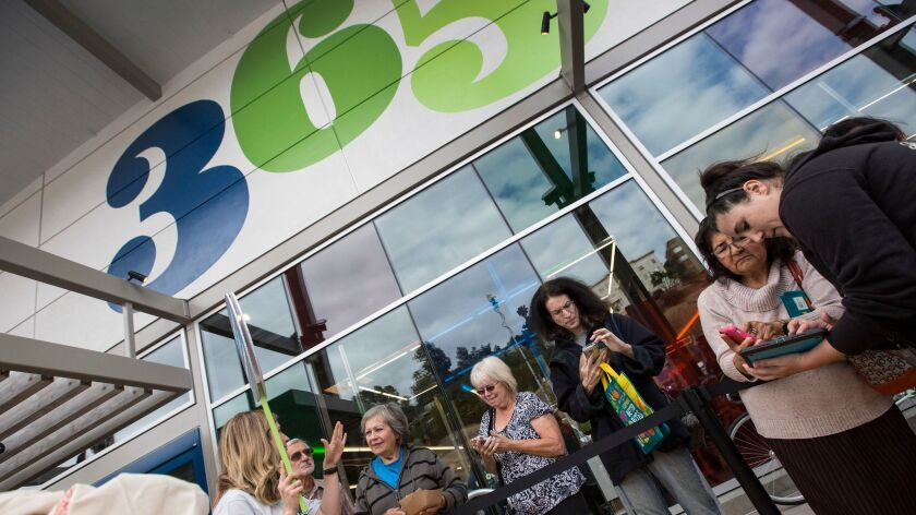 365 Whole Foods opens Wednesday at 8:30 a.m. in Silver Lake. This is 365's very first store. We'll b