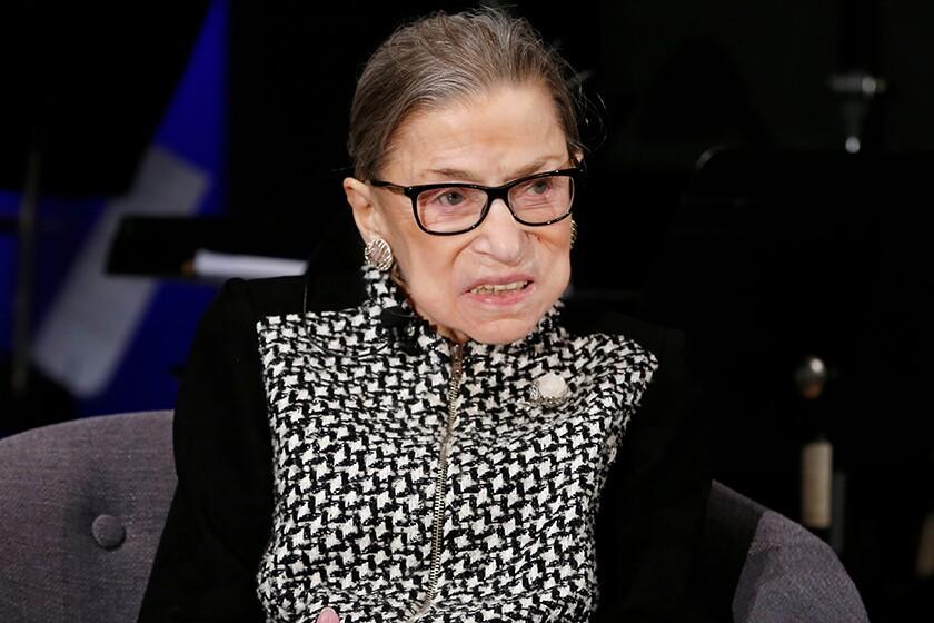 Supreme Court Justice Ruth Bader Ginsburg in December.