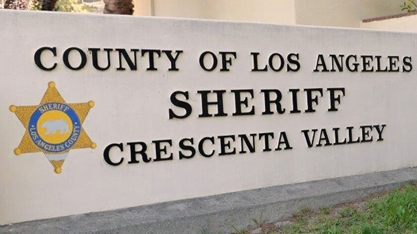 The Crescenta Valley Sheriff's Station on Briggs Avenue.
