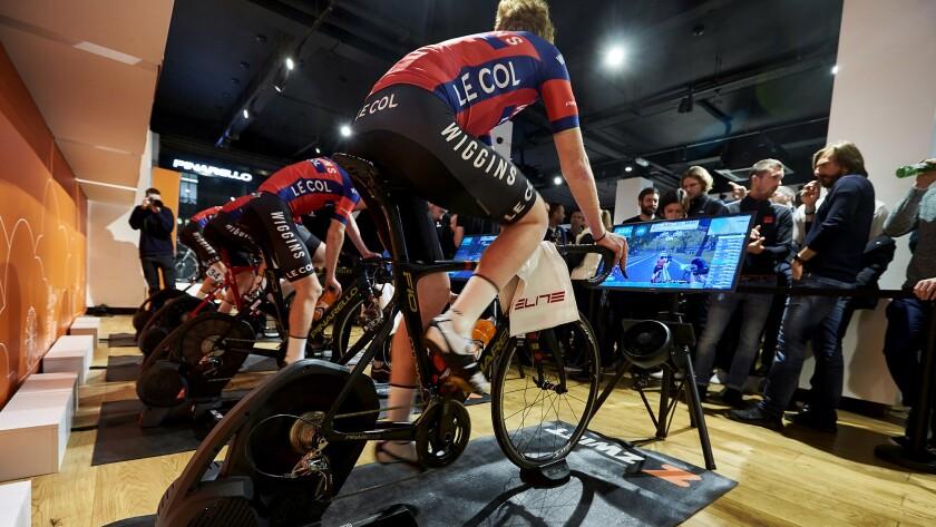 Zwift launch of esports Pro Cycling League in London