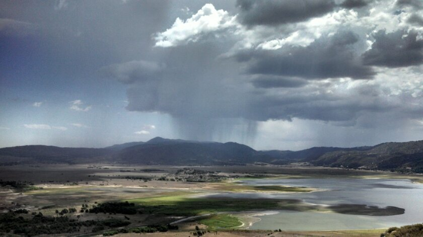 The monsoon was weaker than normal during the summer of 2013. But there were still many raucous moments, including this thunderstorm, which developed over Lake Henshaw on Sept. 7th.