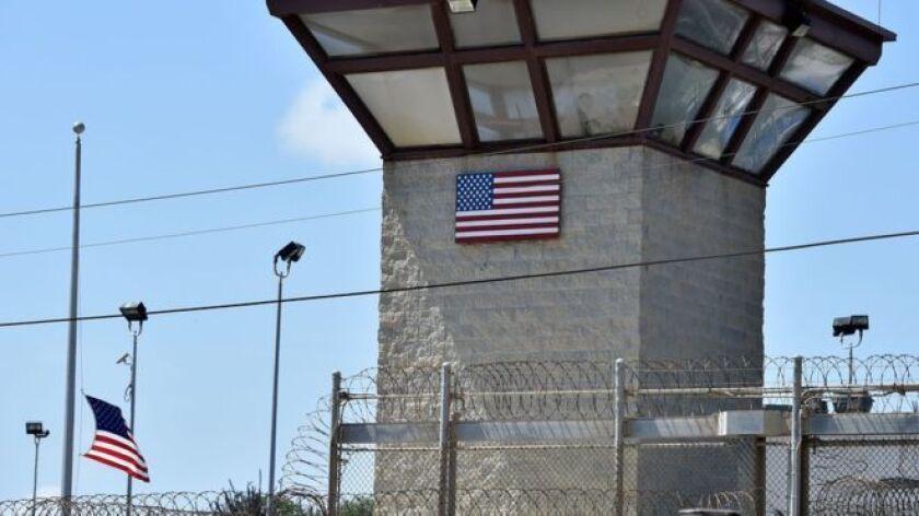 Quedan 61 detenidos en el centro de detención de la base naval estadounidense de Guantánamo, en la isla de Cuba.