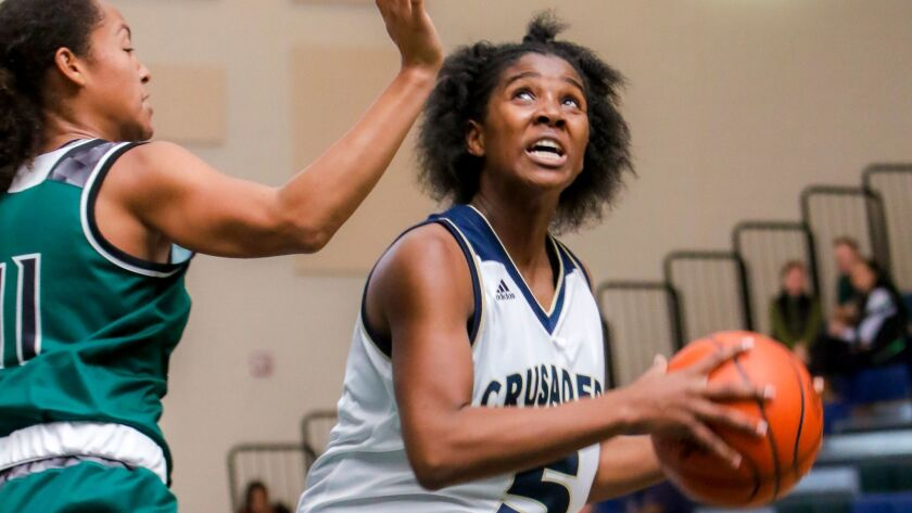Mater Dei Catholic sophomore Chloe Webb is averaging 21 points a game for the Crusaders.