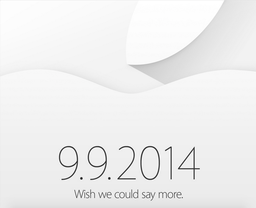 Apple's teaser invitation.