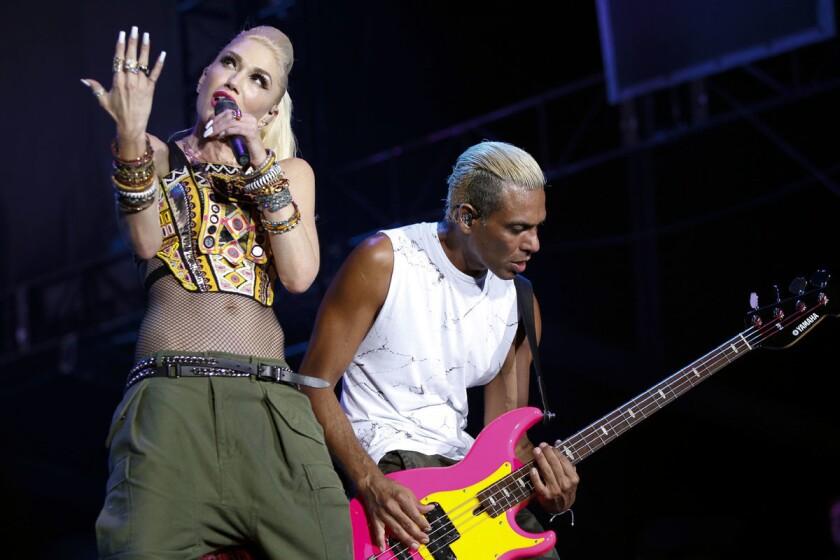 No Doubt lead singer Gwen Stefani and bassist Tony Kanal.