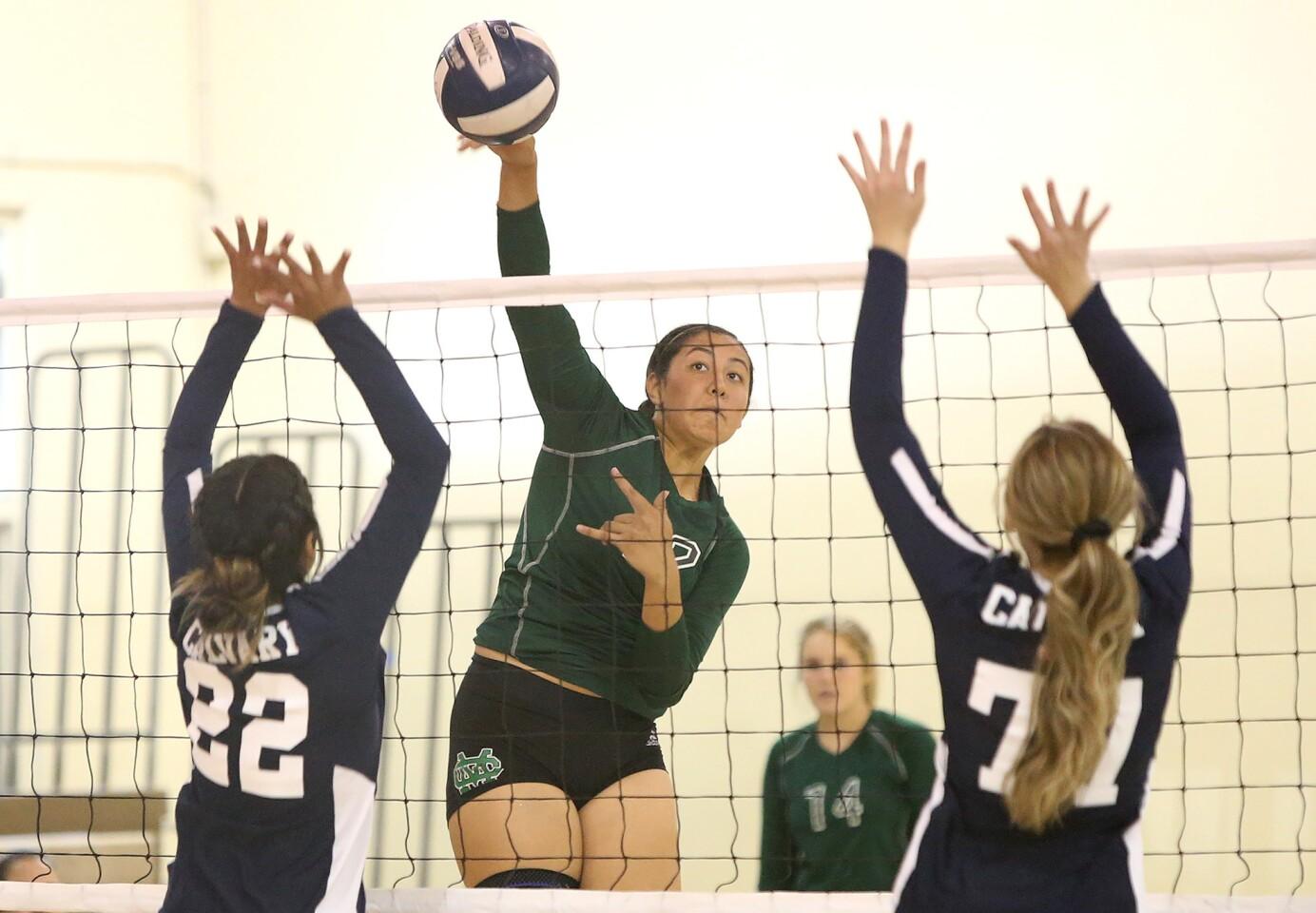 Photo gallery: Costa Mesa vs. Calvary Chapel in girls' volleyball