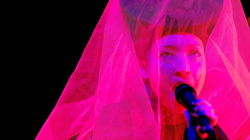 INDIO, CA - APRIL 21: Musician Yukimi Nagano of Little Dragon performs at the Gobi Tent during day
