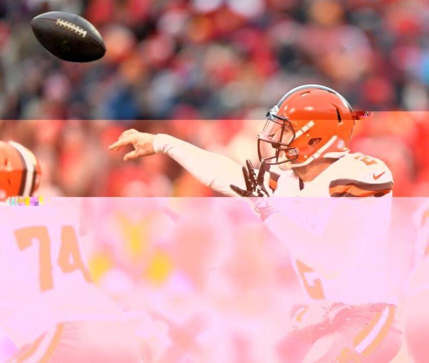 Jugadores de los Browns de Cleveland. EFE/Archivo