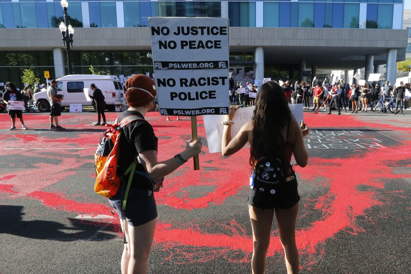 Black Lives Matter protesters in Salt Lake City