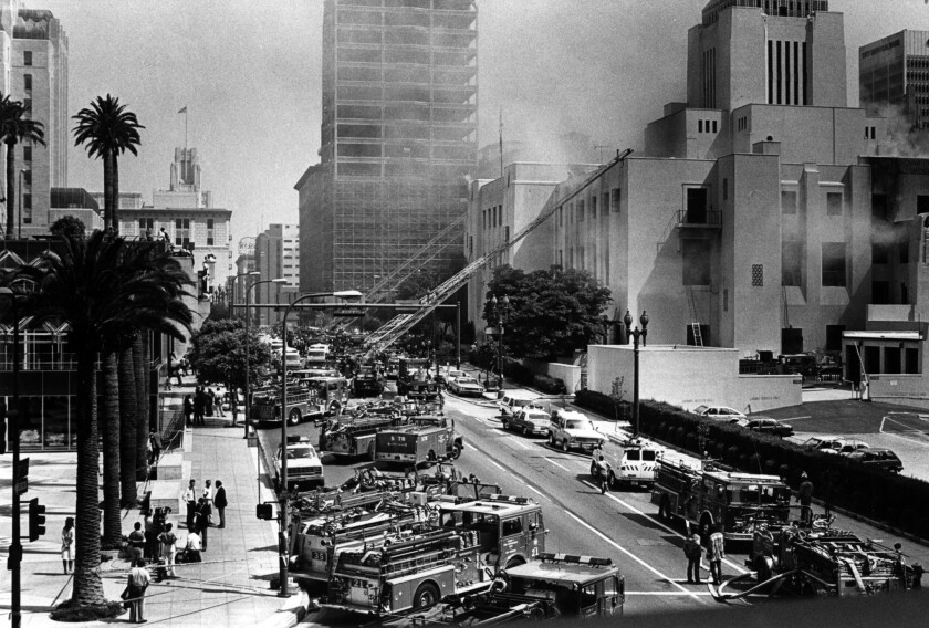 L.A. Central Library fire