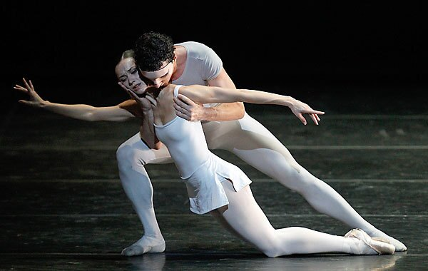 Sophie Martin and Erik Cavallari perform with the Scottish Ballet, making a rare U.S. tour, at the Dorothy Chandler Pavilion on Friday.