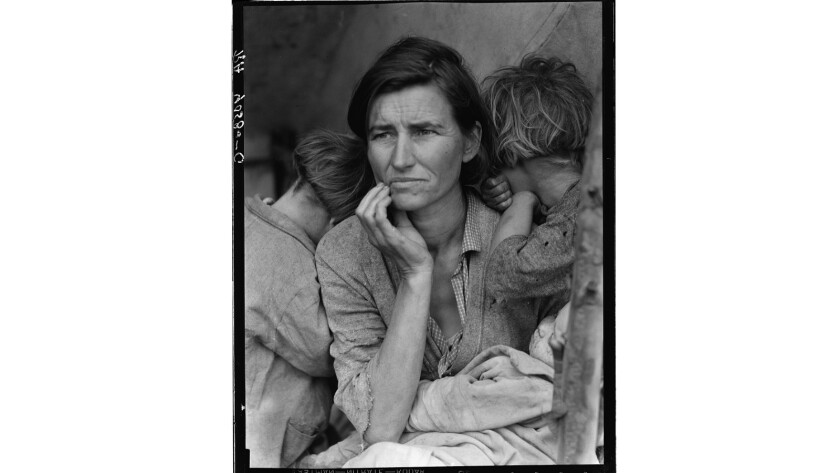 "Florence Owens Thompson, Dorothea Lange's ""Migrant Mother"""