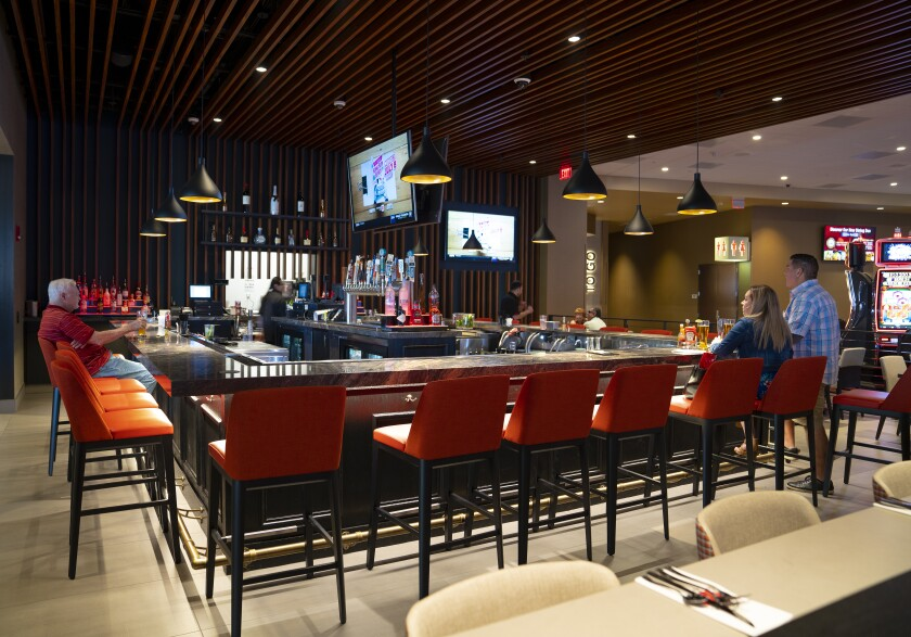 Patties & Pints, at Valley View Casino & Hotel, offers 16 beers on tap, the first time the casino has served draft brew.