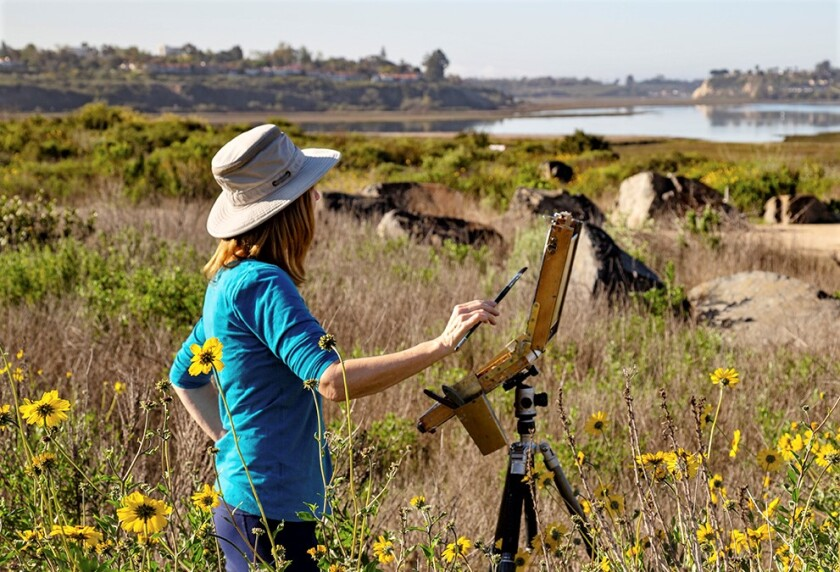 The Southern California Plein Air Painters Assn. will host a show at the Environmental Nature Center June 5 and 6.