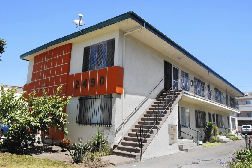 Each year, the Los Angeles housing department discovers 600 to 700 unapproved apartments. Above, this building on South Corinth Avenue was found to have bootleg apartments in 2008. It's now under different management.