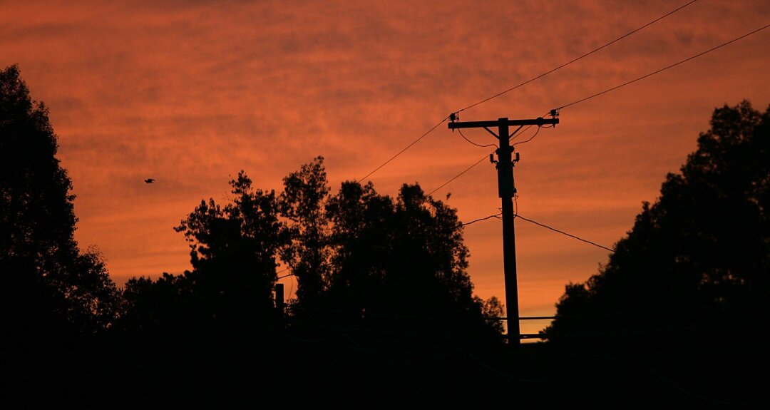 San Diego Gas & Electric lines at sunset