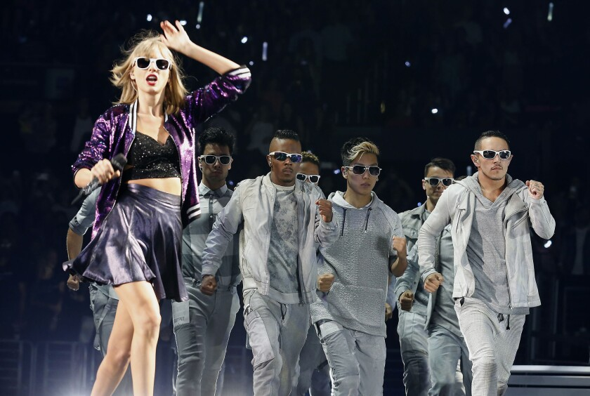 Taylor Swift performs Friday night at Staples Center in Los Angeles.