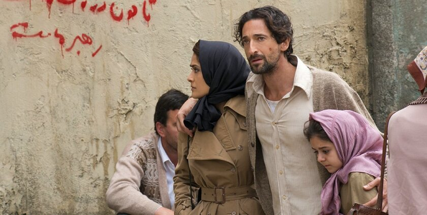 Salma Hayek and San Diego Film Festival honoree Adrien Brody in a scene from 'Septembers of Shiraz,' screening 7 p.m. Wednesday, Sept. 30, 2015 at Reading Cinema in downtown San Diego.