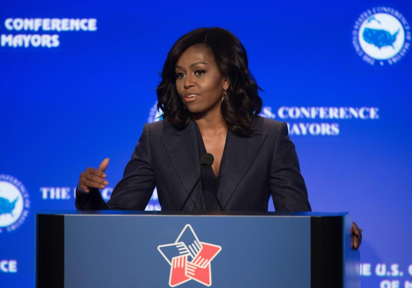 First Lady Michelle Obama speaks about the Administration's efforts to end veteran homelessness and the importance of mayoral leadership in the process at the 84th annual Winter Meeting of The United States Conference of Mayors in Washington, D.C.