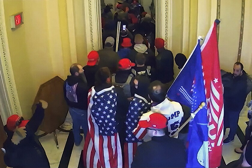 Capitol rioters shown in video