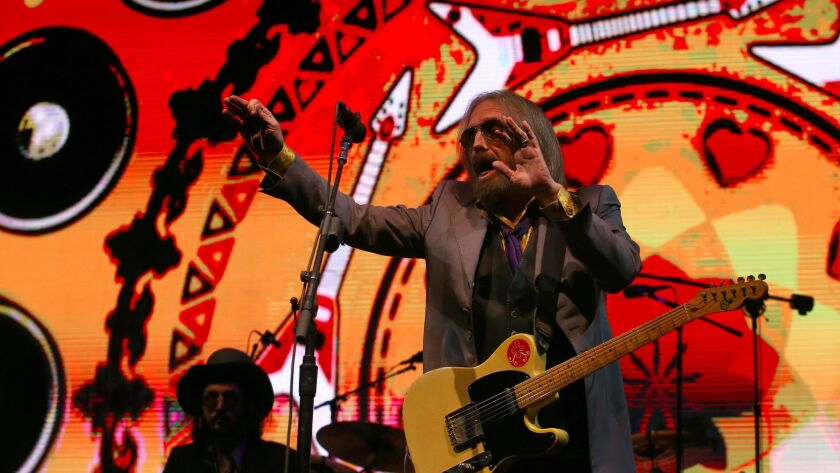 Tom Petty performs with the Heartbreakers at the Arroyo Seco Weekend festival in Pasadena.