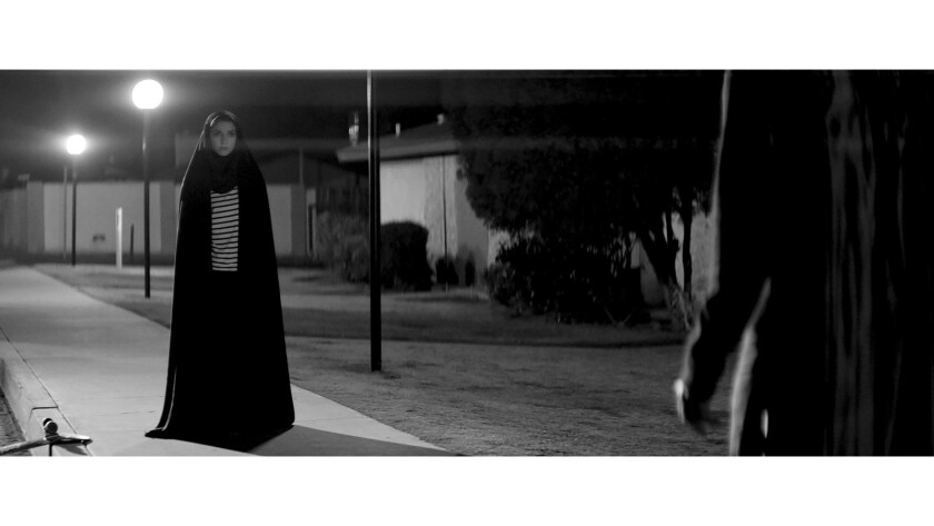 "Sheila Vand in ""A Woman Walks Alone At Night"""
