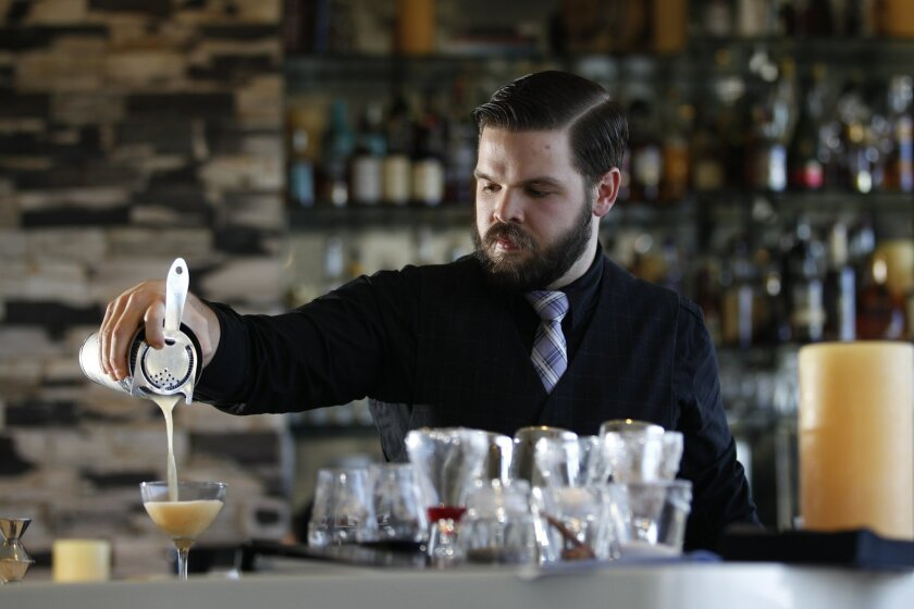 Nate Howell, the bar manager at Cusp Dining & Drinks at the Hotel La Jolla.