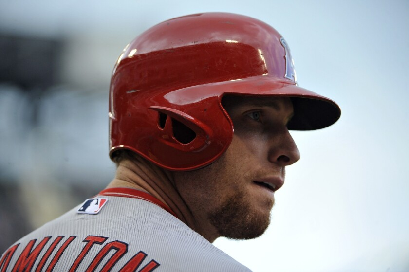 Angels' Josh Hamilton says he's been battling an illness for 10 days to two weeks.