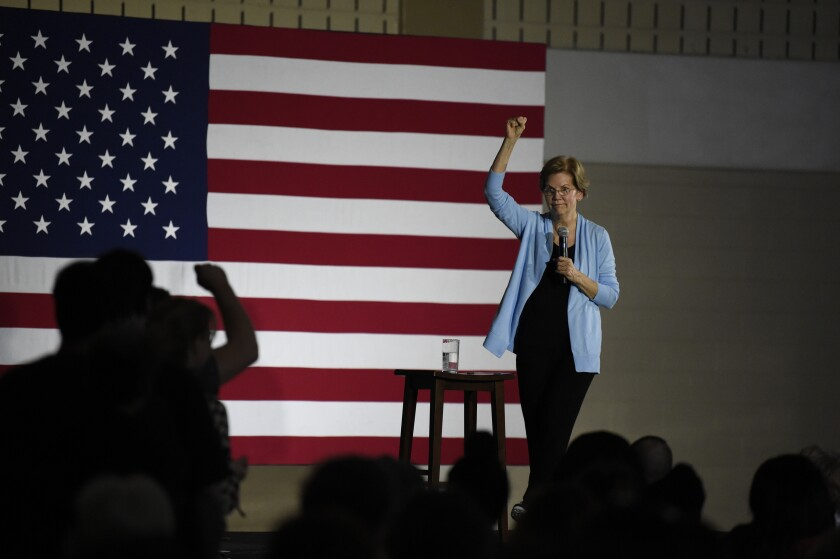 Democratic presidential hopeful Elizabeth Warren speaks during a town hall, Sunday, Dec. 8, 2019, in Charleston, S.C. (AP Photo/Meg Kinnard)