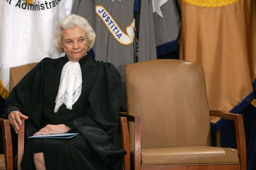 Sandra Day O'Connor, seen here in 2005, announced Tuesday she was diagnosed several months ago with dementia and possibly Alzheimer's.