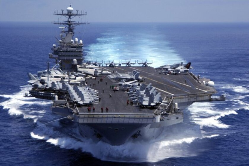 San Diego is the homeport for the carriers Carl Vinson (shown here) and the Ronald Reagan.