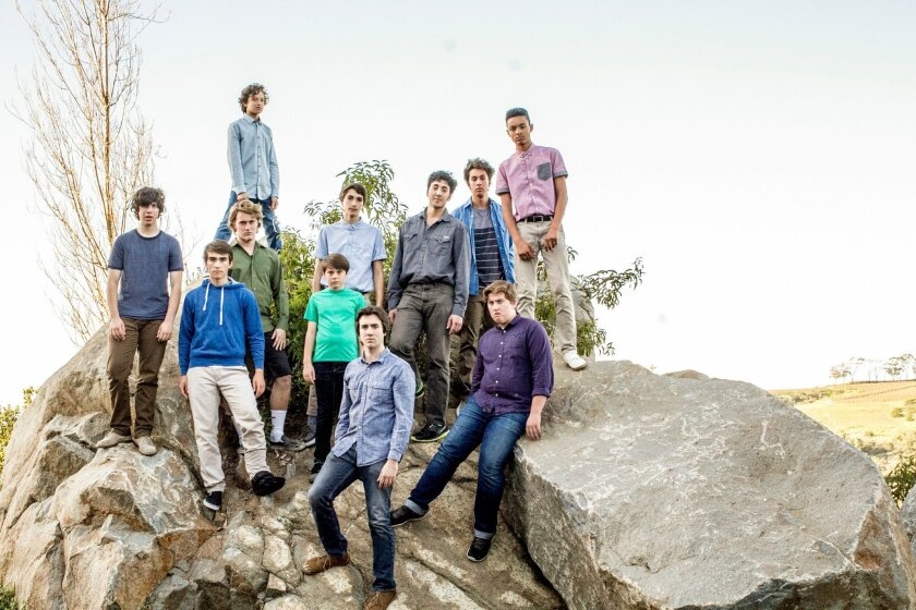 """The cast of New Village Arts Theatre's """"Lord of the Flies."""""""