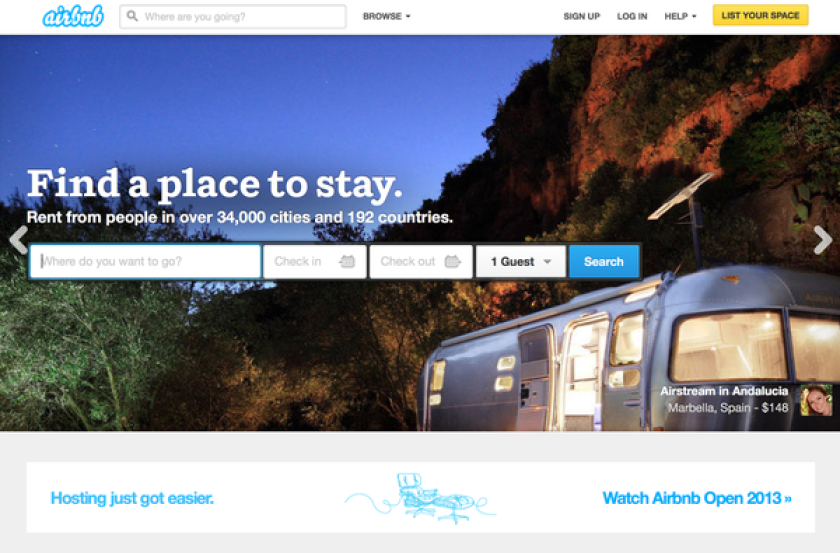 An ad for Airbnb Inc. The company said it has filed to go public in a long-awaited listing.