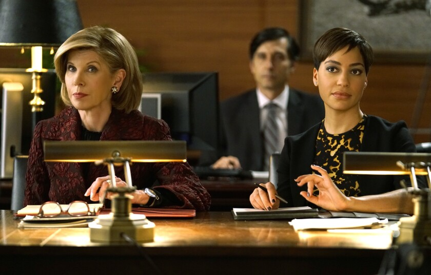 """Christine Baranski, left, as Diane Lockhart and Cush Jumbo as Lucca Quin in the CBS series """"The Good Fight."""""""
