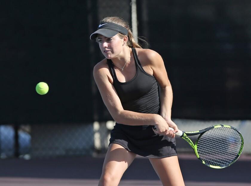 Huntington Beach girls' tennis edges Laguna Beach on games in Wave League opener