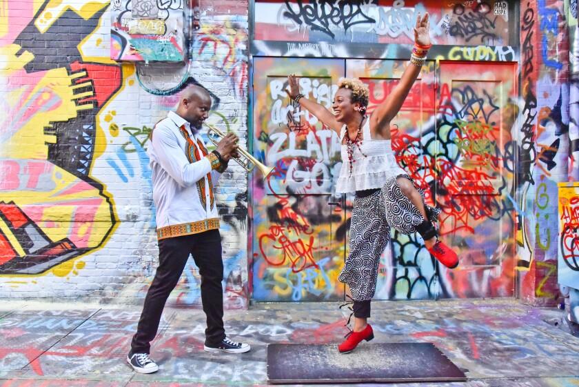 Trumpeter Sean Jones and vocalist-dancer Brinae Ali