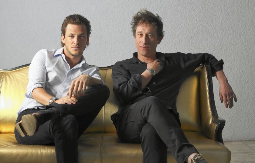 Actor Gaspard Ulliel, left, and director Bertrand Bonello