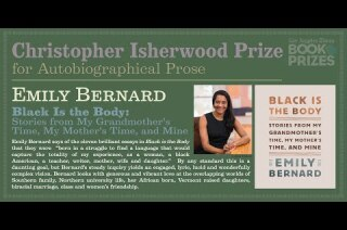 Los Angeles Times Book Prizes: Emily Bernard, Christopher Isherwood Prize for Autobiographical Prose