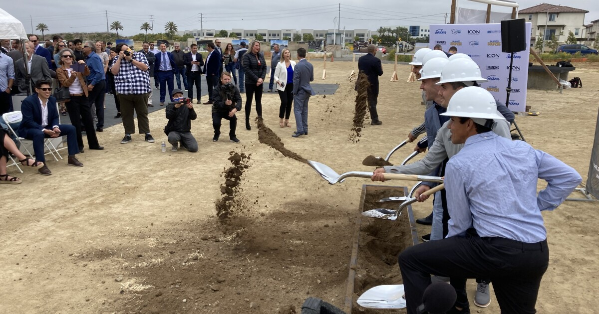 Pro soccer team breaks ground for new arena in Oceanside