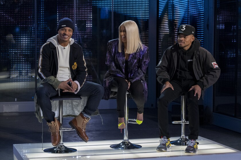 T.I., Cardi B, and Chance The Rapper, judges of Netflix's new talent competition, 'Rhythm + Flow'