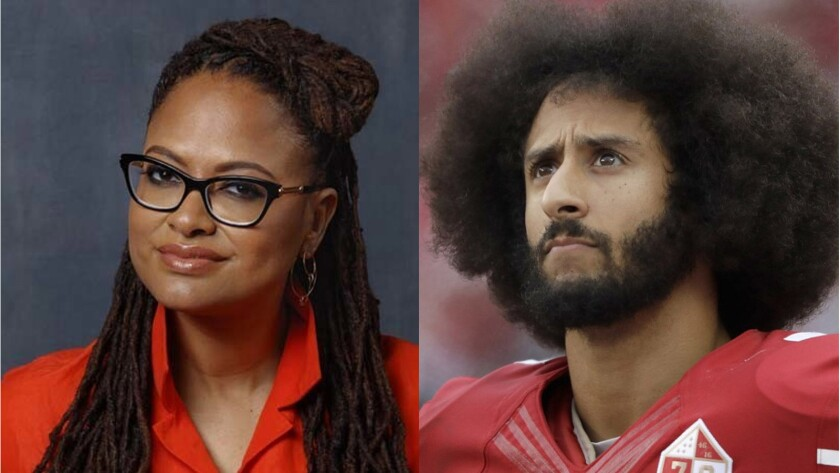 Filmmaker Ava DuVernay and athlete/activist Colin Kaepernick.
